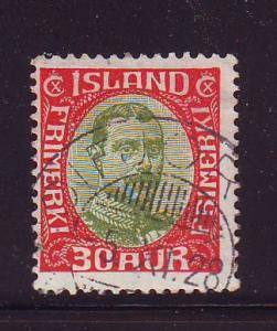 Iceland Sc 122 1920 30 a Christian X stamp used