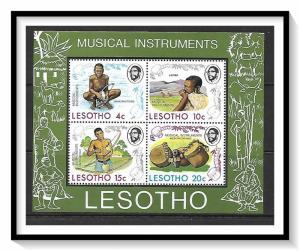 Lesotho #177a Musical Instruments Souvenir Sheet MNH