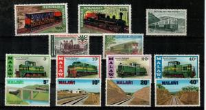 Malagasy and Malawi - NH sets (Trains) - Catalog Value $21.25
