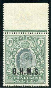 Somaliland 1904 KEVII Official 1r green MLH. SG O15. Sc O15.