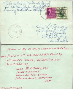 1960 US NAVY INTERESTING INFO CARD + SYDNEY, 1960, Polar