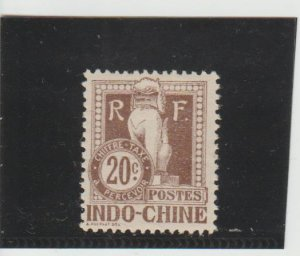 Indo-China  Scott#  J10  MH  (1908 Postage Due)
