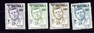 Guatemala C299-302 MNH 1964 John F Kennedy