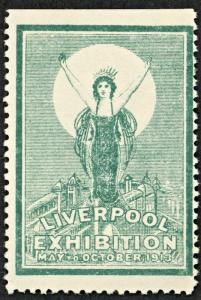 1913 GREAT BRITAIN LIVERPOOL EXHIBITION  MNH  Poster Stamp