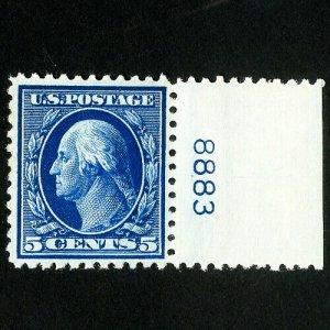US Stamps # 504 XF Single Plate # OG NH