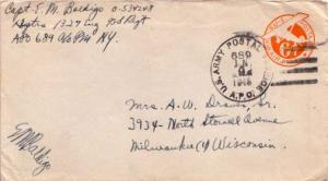 United States, U.S. A.P.O.'s, India, Airmail, Postal Stationery