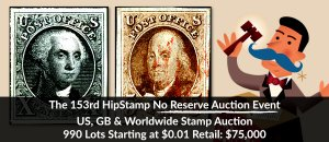 The 153rd HipStamp No Reserve Auction Event