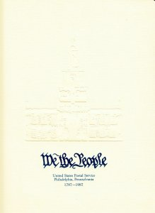 1987 We The People 8.5 X 11 poster pages with Philadelphia pictorial cancels