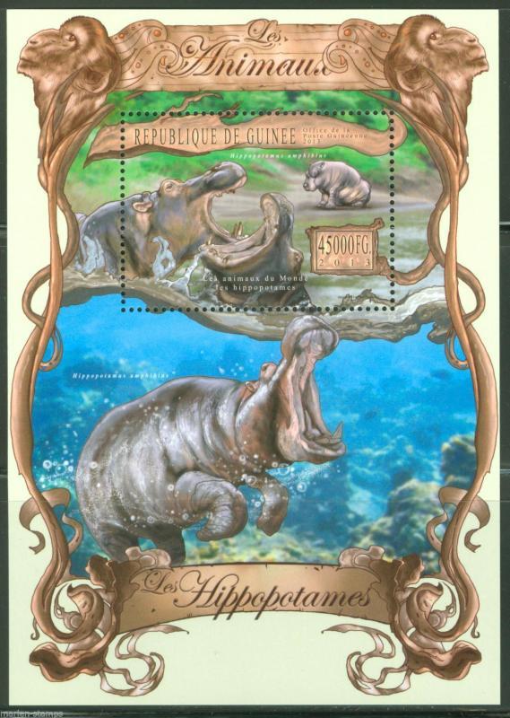 Guinea MNH S/S Hippopotamus 2013