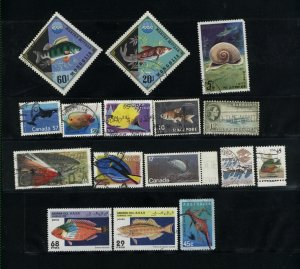 Fish  16 different  used  PD
