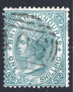 Br Honduras 1865 1s Green, No Wmk, SG 4 Scott 3 VFU Cat £130($202)