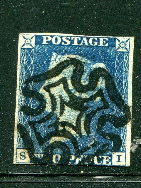 Great Britain #2 Used nice maltese cancel