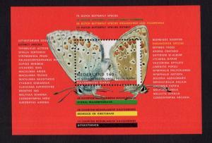 Netherlands  #833   MNH  1993  sheet  butterflies