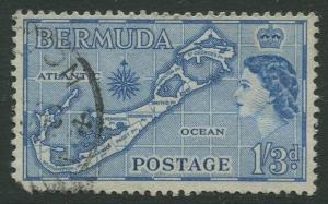 Bermuda #157 KGVI Used  Scott CV. $0.60