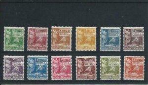 SAMOA 1921 SET OF TWELVE MM SG 153/164 CAT £55