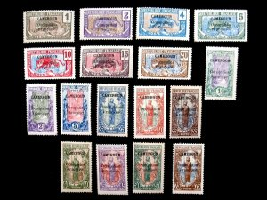 CAMEROUN - SCOTT# 130-146 - CS - MH - CAT VAL $42.00
