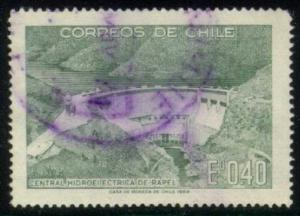 Chile #377 Rapel Hydroelectric Plant, used (0.25)