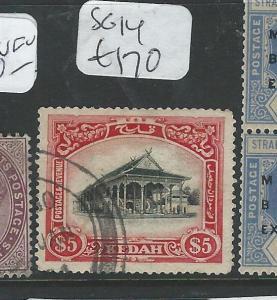 MALAYA KEDAH  (P2907B) $5.00 SG14  VFU