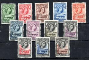 Bechuanaland QEII 1955 Definitive good used set #143-153 WS13890