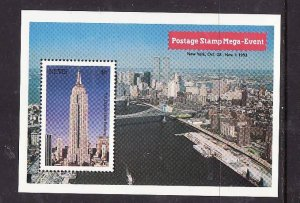 Nevis-Sc#760- id2-Unused NH sheet-New York-Empire State Building-1992-
