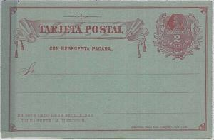CHILE - Postal Stationery : COLUMBUS COLOMBO -  Higgings & Gage #8 double card