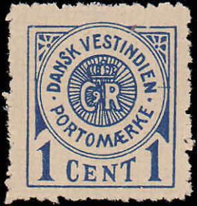 1902 Danish West Indies #J1, Incomplete Set, Hinged