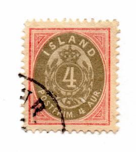 Iceland - Facit# 22 / Sc# 23 Used  /  Lot 1015062