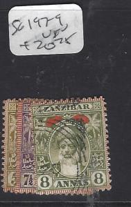 ZANZIBAR  (PP2510B)  OLD  SULTAN  SG 188-194   VFU