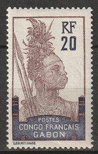 Gabon 1910 Sc 38 MH*