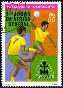 Team Handball, St. Thomas & Prince Islds. stamp SC#639 used