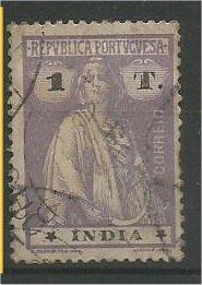 PORTUGUESE INDIA, 1913, used 1t, Ceres Scott 367