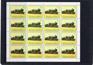Equatorial Guinea #7868-7874 MNH M/S Locomotives Trains CV€56