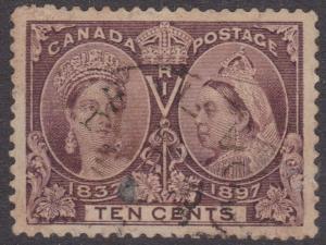 Canada - 1897 10c QV Jubilee Used CDS #57