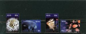 NEVIS 2003 Sc#1362-1365 FISH & MARINE LIFE SET OF 4 STAMPS MNH