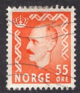 Norway   #315  1950 used King Haakon VII  55ore