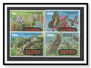 Zambia #86-89 Conservation Year Set MNH