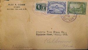 O) 1924 COSTA RICA, RODRIGO ARIAS MALDONADO, COLLEGE OF SAN LUIS CARTAGO, GE