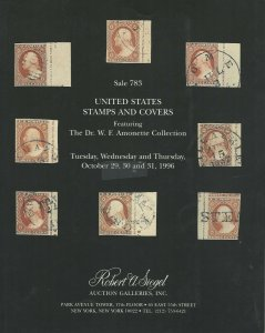 D.W. Amonette, U.S. Stamps & Covers, R.A. Siegel, Sale #916, Oct. 29-31, 1996