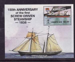 Kiribati-Sc#508-Unused NH sheet-Australia Bicentennial-Ships-1988-