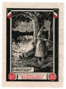 (I.B-CK) Germany (Great War) Cinderella : Veterans War Fund 3pf (Camp)