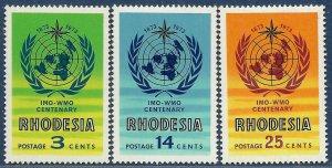 Rhodesia sg 481-3 MNH 1973 set of 3 IMO-WMO Centenary
