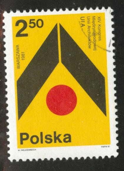 Poland Scott 2449 Used CTO favor canceled stamp 1981