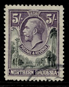 NORTHERN RHODESIA GV SG14, 5s slate-grey & violet, FINE USED. Cat £19.