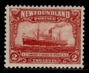 CANADA - Newfoundland GV SG165, 2c carmine, M MINT.