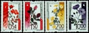 HERRICKSTAMP BULGARIA Sc.# 4370-73 Roses (Flowers) NH Stamps