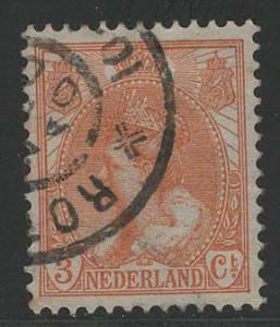 Netherlands Scott # 61, used, perf 12.5