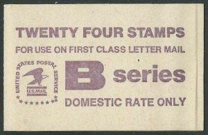 US #1819a (BK136) $4.32(3x8x18c)B & Eagle, MNH, (1)