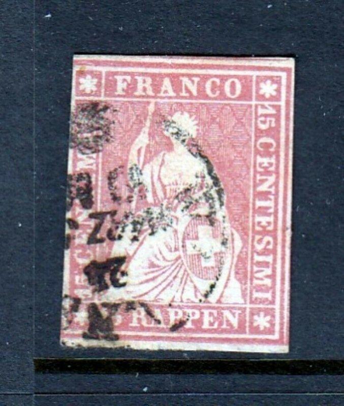 #38 20r Seated Helvetia - (Used - Nice) cv$65.00