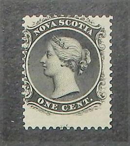 Nova Scotia 8. 1860-63 1c Black QV