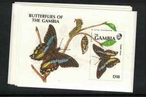 Gambia Butterfly SC 1076-9 MNH (3efq)